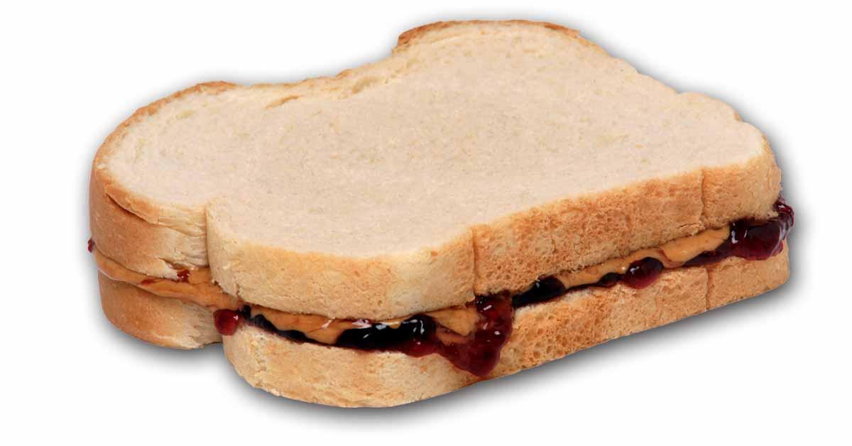 Peanut Butter ALTERNATIVE and Jelly Sandwich