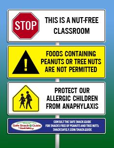 Nut-free Classroom Graphic