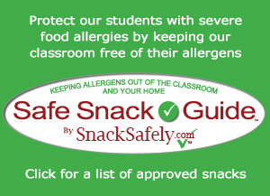 Click here for the Safe Snack Guide by SnackSafely.com