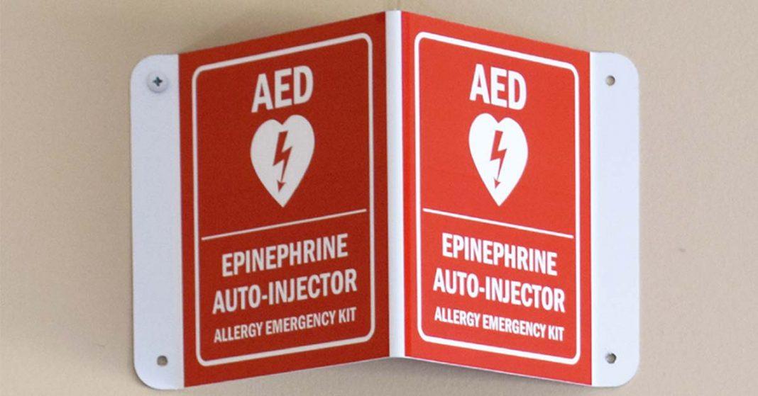 Emergency Epinephrine Sign